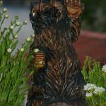 """""""Hello bear statue with foliage"""" by wildethangs"""