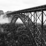 """New River Gorge Bridge in Black and White"" by BrendanReals"