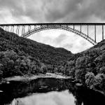 """New River Gorge Bridge in B&W by Brendan Reals"" by BrendanReals"
