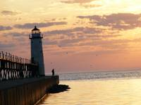 Manistee lighthouse Lake Michigan