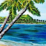 """two leaning palms"" by kjgordon"