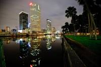 Tampa FL, Downtown at Night