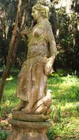 female woodland statue in Magnolia Garden