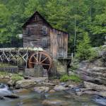 """Glade Creek Grist Mill, Babcock State Park, WV"" by BrendanReals"