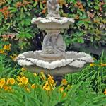 """garden fountain-painted"" by lwoodburn"