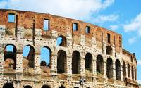 Roman Colosseum panorama color photograph