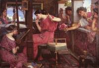 John William Waterhouse's Penelope and the Suitors