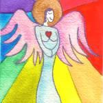 """Rainbow Ray Angel"" by Christia"