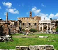 Ancient Roman Forum -  color photograph