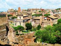 Roman Forum - panoramic photography of the ruins