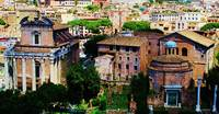 Roman Forum panoramic photo of ruins and temples