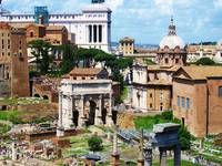 Panorama of the Roman Forum - Forum Magnum