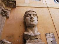 Head from the Colossal Marble Statue of Constantin