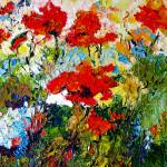 """Red Poppies Provencale Oil Painting by Ginette"" by GinetteCallaway"