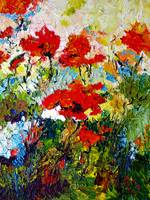 Red Poppies Provencale Oil Painting by Ginette