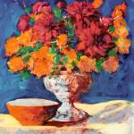 """Red and Orange Flower Arrangement"" by BeaconArtWorksCorporation"