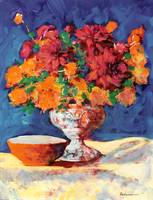 Red and Orange Flower Arrangement