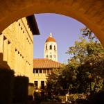 """Hoover tower through the arch."" by chesman"