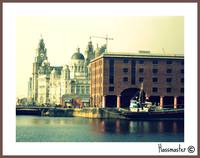 Albert Dock with Liver Buildings