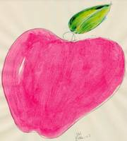 RED APPLE SINGLE LINE DRAWING ONE