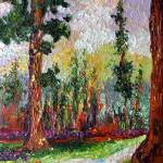 """Sequoia Original Impressionist Oil Painting by Gin"" by GinetteCallaway"