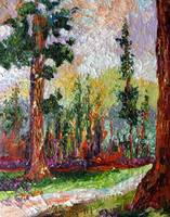 Sequoia Original Impressionist Oil Painting by Gin