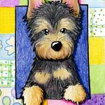 """Australian Silky Terrier Puppy"" by KiniArt"