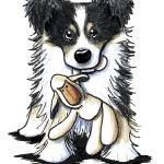 """Tri Color Border Collie"" by KiniArt"