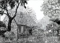 The O'Regan Floral Cottage [ in black & white ]