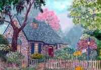 The O'Regan Floral Cottage - original painting