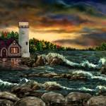 """Davids Point Lighthouse by Ave Hurley"" by AveHurley"