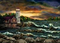 Davids Point Lighthouse by Ave Hurley