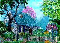 The O' Regan Floral Cottage  [green hued]