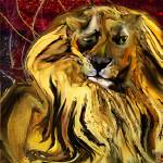 """The squinting lion"" by ArteSigno"