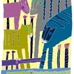 """4 JUNGLE CATS"" by PatMeyersPrints"