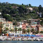 """The Beach at Santa Margherita Ligure"" by DonnaCorless"