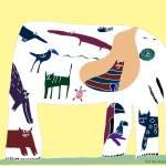 """WHITE ELEPHANT"" by PatMeyersPrints"