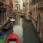 """Venice Canal Red Boat"" by Lawrence"