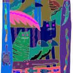 """JUNGLE ANIMALS"" by PatMeyersPrints"