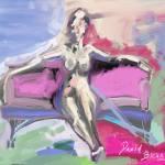 """""""Seated nude"""" by DavidBleakley"""