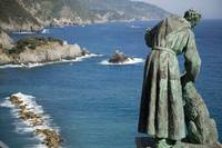 Statue of Saint Francis overlooking Monterosso
