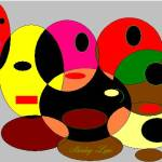 """""""Abstract faces painted"""" by ShirleyLepe"""