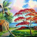 """Royal Poinciana River Shack"" by mazz"