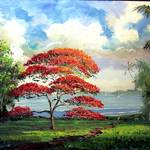 """Royal Poinciana Tropical River"" by mazz"