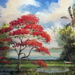 """Royal Poinciana Boat"" by mazz"