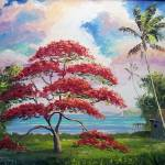"""Royal Poinciana Lakeview Shack"" by mazz"