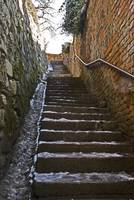 wonky stairs leading to the castle...