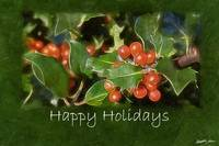 Holiday Holly - Happy Holidays