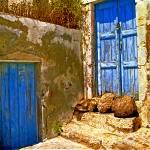 """Blue Doors Of Santorini"" by madeline"