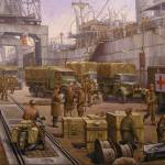 """The 52nd Lowland at Cherbourg"" by jeffriesmike11"